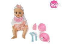 Schattige baby pop met verschillende baby geluiden + accessoires - 39CM