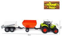 Tractor 2in1 tank en laadbak 45CM met geluid en licht