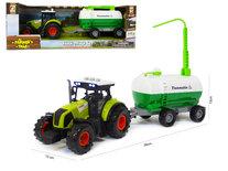 Landbouw tractor voertuig met giertank - met geluid en lichtjes - speelgoed tractor 38CM