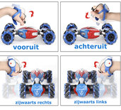 Rc Stunt Car 4WD Transformer auto met hand en Afstandsbediening bestuurbaar Twisten Off-Road Voertuig 1:10 - 2.4ghz