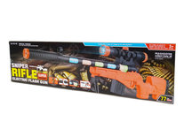 Speelgoed Sniper Rifle geweer 77CM - led lichtjes en schietgeluiden - scherpschutters geweer