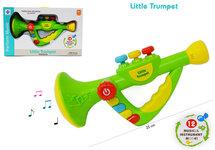 Speelgoed trompet met 12 muzikale instrumenten - Little Trumpet - speelgoed instrument - 25CM