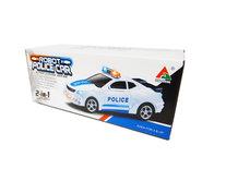Robot Police Car 2 in 1 robot en auto transformer voertuig politie auto - led licht en geluid 22CM