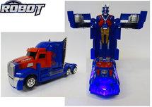 Robot Truck 2 in 1 robot en vrachtwagen transformer voertuig - led licht en geluid 24CM