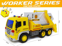 Vrachtwagen met laadbak-kiepbak - lichtjes en geluid -  werkvoertuig Workers Series (26cm)