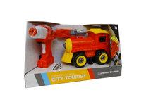 RC DIY trein speelgoed bouw set 24 stuks - 4in1 - afstandsbediening en schroefboormachine - City Tourist train