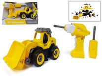 DIY RC graafmachine truck - bouwset 24 stuks - 4in1 - afstandsbediening en schroefboormachine - City Engineering