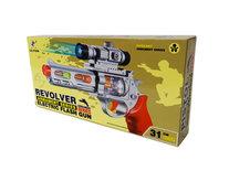 Revolver Flash Gun - elektrische speelgoed pistool - Led licht en geluiden - 30CM