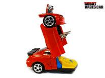 Transformer - Robot Race car - robot en auto 2in1 - met geluid en Led lichten - 20CM
