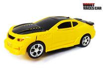 Transform - Robot Race car - robot en auto 2in1 - met geluid en Led lichten - 20CM