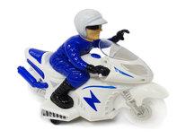 Politie motor met led flash light en politie geluiden - Police Motorcycle 25CM