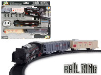 Speelgoed Trein set 13 stuks - Rail Baan 68x68 - met licht en kan rijden - Rail King
