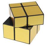 Mirror Cube 2x2 Gold edition - puzzel kubus - Qiyi Cube (5.5x5.5 cm)