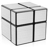 Mirror Cube 2x2 Silver edition - puzzel kubus - Qiyi Cube (5.5x5.5 cm)