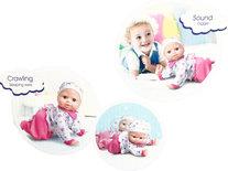 Crawling Baby - kruip baby pop speelgoed -Baby Sweet&Cuddly - met geluid (32cm)