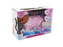 Crawling Baby - kruip baby pop - kan kruipen en dansen - met geluid (20cm)