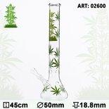 Leaf Jhari Weed/marijuana Beaker Glass Bong pijp - Ø:50mm- H:45cm- Socket:18.8mm