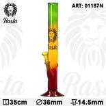Rasta glazen Bong Weed pijp- H:35cm- Ø:36mm - SG:14.5mm