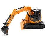 RC graafmachine speelgoedwerkvoertuig - LED lichtjes en geluid - 2.4ghz bestuurbare truck 1:20