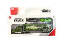 Autotransporter met 2 auto's - Military vrachtwagen 1:58 - DIE-CAST TRUCK SERIES - model auto's