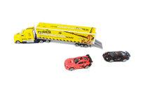 Autotransporter met 2 auto's - Constructie vrachtwagen 1:58 - DIE-CAST TRUCK SERIES - model auto's
