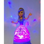 Prinsessenstaf Anna en Elsa  - toverstaf met muziek en lichtjes - flash stick 37CM