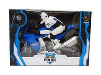 Politie motor speelgoed - Sheriff Police Motor Cycle - met licht en politie geluiden - 29CM