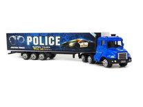 Speelgoed Vrachtwagen met oplegger van politie - Die cast model voertuigen - 1:87
