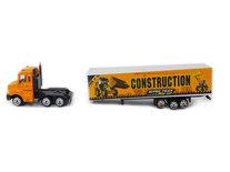 Vrachtwagen met oplegger van construction - Die cast model voertuigen - 1:87