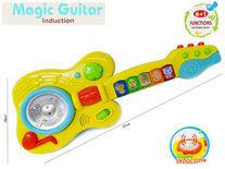 Speelgoed elektronische gitaar met verschillende tonen - Magic Guitar - sensor actief systeem - 37CM
