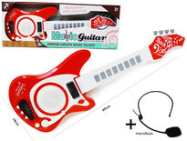 Speelgoed elektrische muziek gitaar met microfoon - Music guitar + mic.