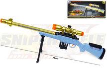 Sniper Rifle geweer met led lichtjes, trilling en schietgeluiden - scherpschutters speelgoedgeweer  75CM