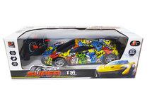 Rc auto met Led koplampen 1:16 - radio grafisch Sport Car (28CM)