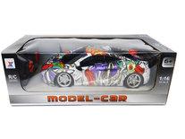 Rc auto met Led koplampen 1:16 - radio grafisch Sport Car (26CM)