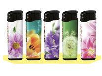 Klik aanstekers (50 stuks in tray ) navulbaar- Unilite Sleeve deal aanstekers met bloemen bedrukking