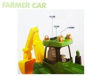 Tractor met frontlader en graafmachine - Hollandse landbouw tractor - Geluid en lichtjes ( 40CM) Farmer truck