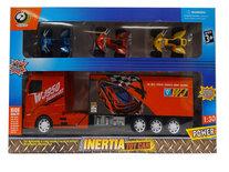 Vrachtwagen speelgoed met oplegger - Transport vrachtwagen speelgoed - 40CM