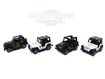 Model auto's 4 stuks in pak- Die Cast Metal Cars - Metaal mini auto's - Alloy Toys - speelgoed politie mini  jeeps