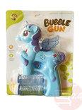 Bellenblaas pistool Pony - schiet automatisch bellen uit - met geluid en lichtjes (23CM)