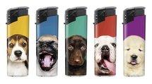 Klik aanstekers (50 stuks in tray ) navulbaar- Unilite Sleeve deal aanstekers met leuke  hondjes gezichten