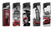 Klik aanstekers (50 stuks in tray ) navulbaar- Unilite Sleeve deal aanstekers met londen gebouwen