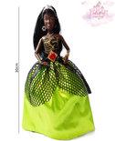 Speelgoed pop met leuke gala jurkje - Bruidsmeisje, gala, cocktail outfit 30CM