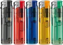 Klik aanstekers 50 stuks in tray navulbaar- uni kleuren