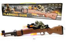 Flashing gun shotgun speelgoed jachtgeweer - Olympia - met licht - tril functie en schietgeluiden - 49CM
