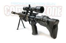 Speelgoed geweer met led lichtjes, trilling en schietgeluiden - Barrett M82  speelgoedgeweer  68CM
