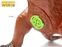 Giganotosaurus- maakt dino geluiden - Speelgoed dinosaurus 50 cm - zacht rubber -  Dinoworld