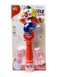 Bellenblaas staaf - clowns ontwerp - schiet bellen uit - vrolijk muziek en led licht - Bubble Clown Stick 32CM