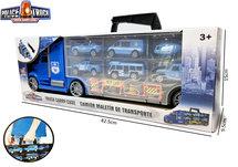 Politie Vrachtwagen kofferset - speelgoed politie 10-delig set- Mega Police truck - 42CM