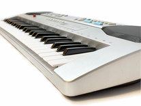 Keyboard met LCD-scherm 49 toetsen + microfoon- kan op stroom en op batterij - 58.5cm