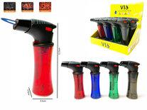 Jet Flame aansteker - barbecue lighter - krachtige turbo wind aansteker - Merk VIO -Display 12 stuks